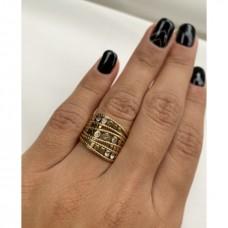 Makkon Natalia Gold Ring(ρυθμιζόμενο)