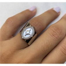 Makkon Silver Cross Ring(ρυθμιζόμενο)